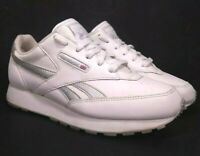 Reebok Classic Leather White Gray Women's Tennis Shoes Size 8.5 Very Clean