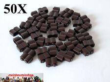 50X Lego® Basic 30136 Palisadenstein, Palisade, 1X2 Dunkelbraun, Dark Brown NEU