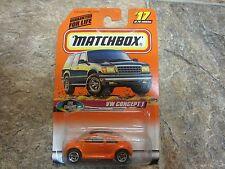 MIP Matchbox Mattel Wheels Cool Concepts, VW Concept 1 Volkswagen New Beetle