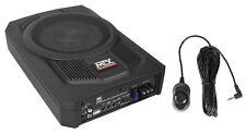"MTX TN8MS 8"" 200w Slim Under-Seat Active Powered Car/Truck Subwoofer Sub+Remote"