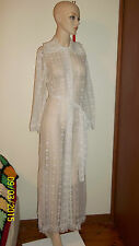 Collectable Vintage Fifth Avenue Lace Maxi Robe dress - SZ S 8 10 wedding gown