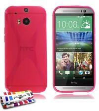 """COQUE HTC ONE M8 """" LE X """" ROSE FUSHIA SILICONE SOUPLE (TPU)"""