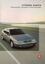 Citroen Xantia 1998-99 UK Market Sales Brochure Base X LX SX Exclusive Activa