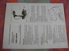 Kenwood MC 60a microphone operating manual  for ham radio, copy