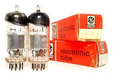 PAIR 6EJ7 EF184 Tubes Matsushita Japan NOS Pentode Shindo Amplifier PreAmp Graaf