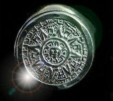 LOOK Tribal Mayan Aztec Calendar Sun Ring Genuine Sterling silver 925 Jewelry