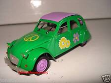 NOREV CITROEN 2CV 6 FLOWER POWER HIPPIES 1970 au 1/43°