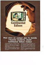 PUBLICITE  1970   CONTINENTAL EDISON  téléviseur