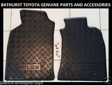 TOYOTA HILUX RUBBER FLOOR MATS FRONT PAIR 2005-2011 - NEW GENUINE ACCESSORY