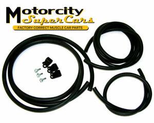 71 72 442 cutlass W-30 wiper hoses and clip set PS