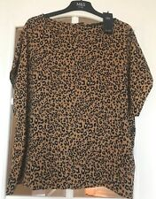 Marks and Spencer Short Sleeve Animal Print Blouse - Size 22 - New with Tag
