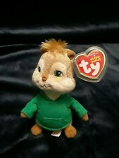 Theodore - Alvin and the Chipmunks TY Plush Beanie Baby Squeakquel With Tag 2013
