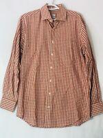 Peter Millar Mens Medium Plaid Long Sleeve Button Up Shirt Size Medium