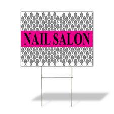 Weatherproof Yard Sign Nail Salon Outdoor Advertising Printing Black Lawn Garden
