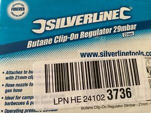 Silverline Butane Clip-On Regulator 29mbar  21mm