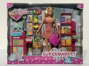 Steffi Love Super Market 20 Pieces Play Set Including Doll Lights And Sounds