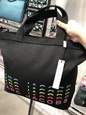 NWT Marc By Marc Jacobs Black Fabric Shopper / Travel Tote Shoulder Bag Purse