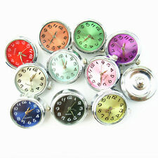 10pcs/lot DIY Mix Color 18mm Watch Snaps Button Fit Ginger Snap Bracelet Jewelry