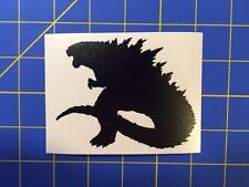 Godzilla 2014 Silhouette Vinyl Decal - Sticker  6x6 - Any Color