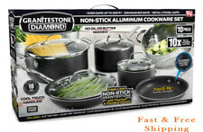 Granite Stone 10 Piece Nonstick Ultra Durable Complete Cookware and Utensil Set!