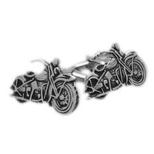 Silver Classic Motorbike Cufflinks With Gift Pouch Harley Davidson Present New