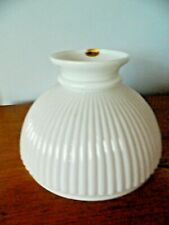 Stunning Sherwood White Ribbed Glass Oil Lamp Shade Ceiling Table Desk