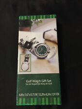 Quartz Golf Watch Gift Set with Keychain