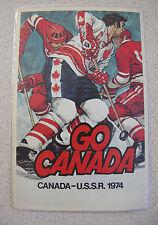 Russian Soviet USSR Go Canada Team Hockey Postcard #20 Vladislav Tretiak 1974