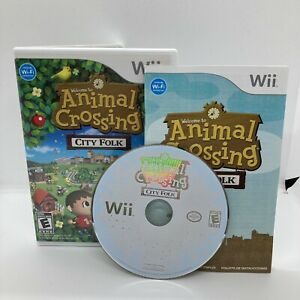 Animal Crossing: City Folk (Nintendo Wii, 2008) COMPLETE VERY GOOD CONDITION