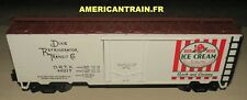 Wagon Reefer Car Red Rose Ice Cream 3 rails échelle O MTH