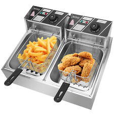 ZOKOP Fryer Stainless Steel Double Cylinder Electric Fryer