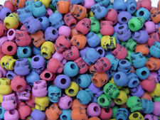 Multi Colors Skulls Pony Beads made in USA Halloween crafts paracord jewelry