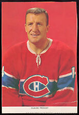 1963 1964-65 CHEX CEREAL Hockey Photo Pic Claude Provost EX+ Montreal Canadiens