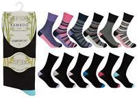 Womens Natural Soft Bamboo Comfort Fit Non Elastic Loose Top Socks 6 or 12 Pairs