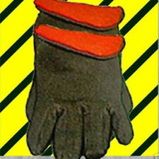 Heavyweight L-BROWN JERSEY 1 Pr Warm Sold Red Lined Insulated GLOVEs Men-Women