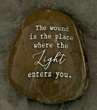 Engraved Rock ~ The Wound Is The Place Where The Light Enters | Rumi