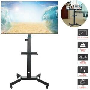 "Mobile TV Cart Floor Stand Mount Home Exhibition Trolley Television for 23""-55"""