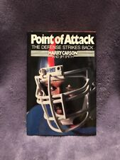 Harry Carson Signed 1987 Point of Attack HBDJ With HOF Newpaper Story SC