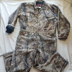 Walls Black Duck Men's 2XL Insulated Real Tree Camo Duck Hunt Coveralls