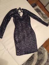 Lipsy Kleid Blau Glänzend Größe 32 NEU!!!