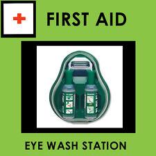 Eye Wash Station Covered x2 500ml Saline Bottles Included