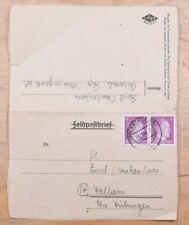 Mayfairstamps Germany 1944 Biberach Feldpost Letter Card wwm88951