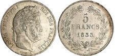 LOUIS PHILIPPE 5 FRANCS ARGENT 1833 W LILLE