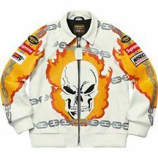 Supreme Vanson New Ghost Rider Leather Jacket White M