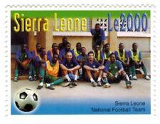 MODERN GEMS - Sierra Leone - National Football Team FIFA - Single Stamp - MNH