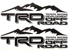 2 TRD OFF ROAD TOYOTA RACING DEVELOPMENT TACOMA TUNDRA TRUCK 4X4 DECAL STICKER