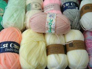 Huge lot of soft baby knitting yarn dk lovely colours 1100g+ @LOOK@