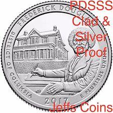2017 PDSSS Frederick Douglass National Site Quarter Mint Clad & 90% Silver Proof