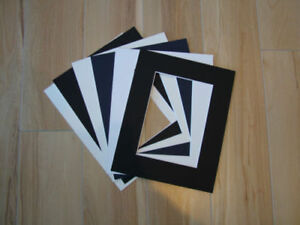 """6 x Professional Picture Framing Mat Boards 11"""" x 14"""" with 8"""" x 10"""" Photo Window"""