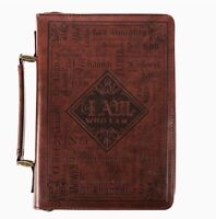 Bible Cover Names of God Bible Cover Brown Luxleather (Medium Size)